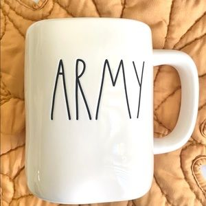 Rae Dunn 'ARMY' Mug